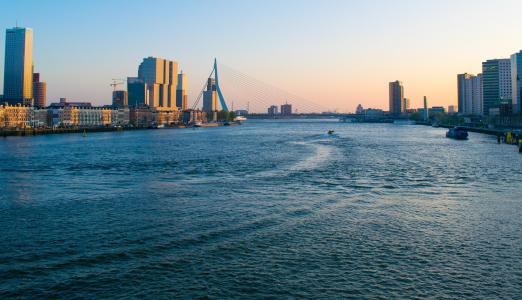 The river 'Maas' in Rotterdam